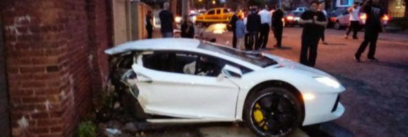 White Lamborghini Aventador Snaps In Half Car Accident Attorney